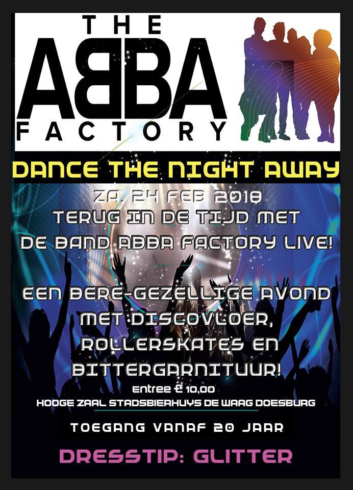 Abba Factory 24 februari 2018 in de Waag in Doesburg